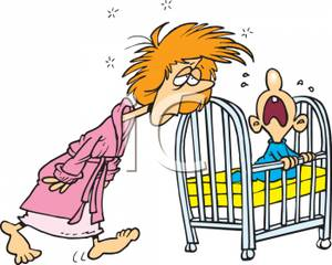 A_Tired_Mother_Tending_To_Her_Screaming_Baby_In_the_Night_Royalty_Free_Clipart_Picture_100912-005202-524053